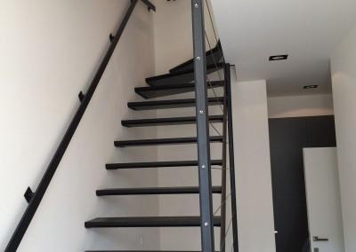 Escalier acier wengé